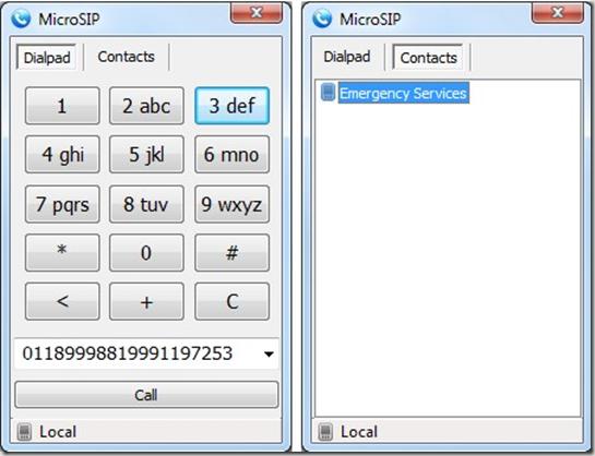 Скриншот портабельного SIP-софтфона MicroSIP Portable