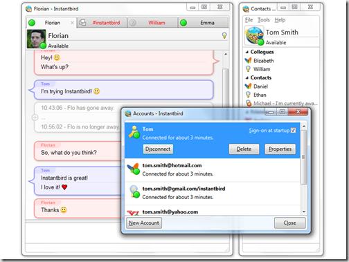 Скриншот портабельного клиента Instantbird Portable