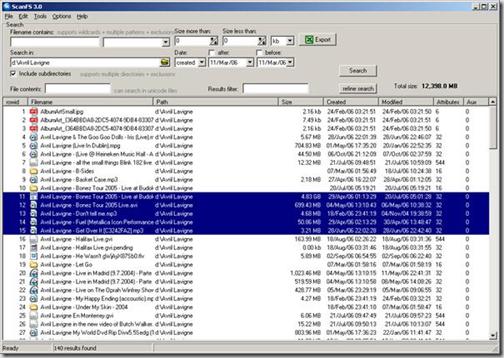 Скриншот программы ScanFS