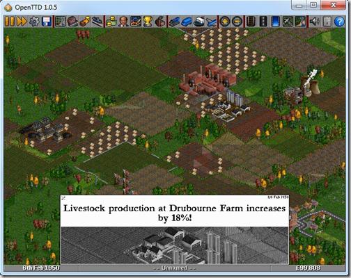 Скриншот стратегической игры OpenTTD Portable