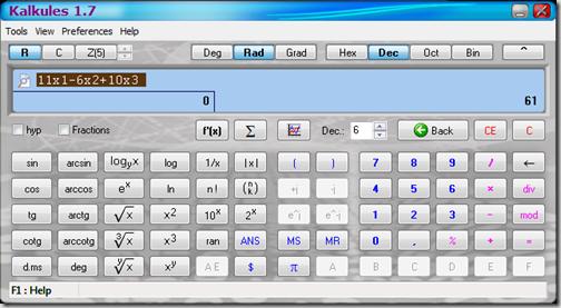 инженерный калькулятор Kalkules