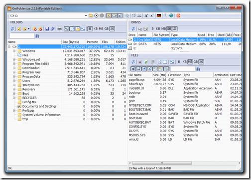 Скриншот программы GetFoldersize